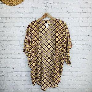 Tory Praver swimwear boho kimono cover up top